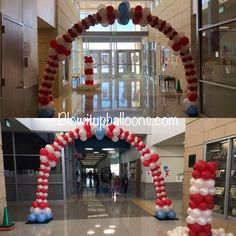 Dr. Seuss balloon arch. Www.blowitupballoons.com Up Balloons, Balloon Arch, 4th Of July Wreath, Wreaths, Baby, Home Decor, Decoration Home, Door Wreaths, Room Decor