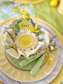 Dining Delight: Mother's Day Lemon Themed Tablescape Yellow Dinner Plates, Yellow Bowls, Battery Operated String Lights, Grace Home, Taper Candles, Lemon Yellow, Yearly, Cloth Napkins, Spring Green