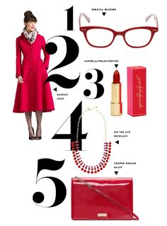 five ways to wear ruby from kate spade new york