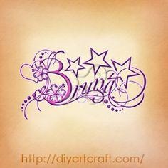 Antonello e Bruna nomi gioiello: stelle tattoo su lettere stilizzate hibiscus-tattoo-Bruna-diyartcraft – tattoo diyartcraft
