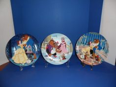 Knowles Disney Beauty and the Beast Collector Plates ~Set of 3