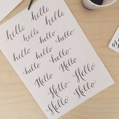Having fun with Calligraphy by Alane Gianetti