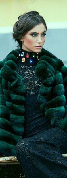 Hunters green puff jacket
