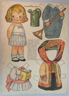Danish Dolly Dingle Look Alike Paper Doll Illustreret Familie Journal C1920   eBay