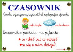 czasownik1 Learn Polish, Polish Language, Killer Abs, 80s Party, Homeschool, Classroom, Education, Learning, Diy