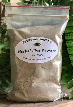 Cat Herbal Flea Powder All Natural Refill Bag, Natural Flea Control for Cats Flea Powder For Cats, Flea Control For Cats, Natural Flea Control, Why Do Cats Purr, Homemade Cat Food, Cat Food Brands, Cats And Cucumbers, Feed Bags, Cat Fleas