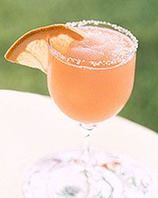 I would like one of these right now! Pink Salty Dog - Martha Stewart Recipes