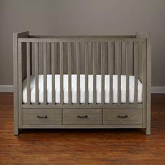 Shop Keepsake Baby Crib with Storage (Greywash).  Our Keepsake Storage Crib (Greywash) with three drawers of storage features a modern design, while also providing three drawers of storage underneath.