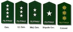 I know I've made a hub bout the Philippine Air Force and Philippine Army ranks. As a response from a request of my friend,hubber, Justom, here are the Philippine military ranks from the three branches of the Armed Forces of the Philippines –. Army Ranks, Military Ranks, Military Police, Philippine Air Force, Philippine Army, Armed Forces, Fire Dept, Navy, Samurai