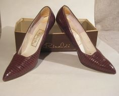 Reptile Pumps Size 8 1/2 SALE by HazelRoberts on Etsy, $18.00