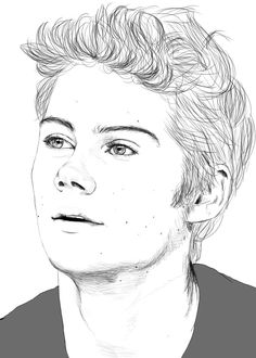 Dylan O'Brien by Golden-Plated. on - Dylan O'Brien by Golden-Plated. Teen Wolf Stiles, Teen Wolf Art, Teen Wolf Dylan, Realistic Drawings, Cartoon Drawings, Cool Drawings, Pencil Drawings, Drawing Faces, Cute Boy Drawing
