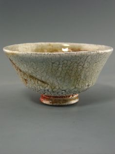 Matcha Chawan, woodfired stoneware with crawling shino, creek clay and natural ash glazes