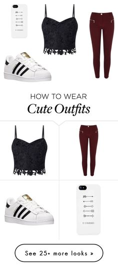 """Casual outfit"" by valeriagonzalezafa on  Polyvore featuring Lipsy, River Island and adidas"
