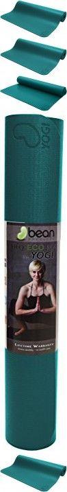 Pro Eco GURU or YOGI Premium Yoga Mat, Pilates Jump Mat Hi Grip - Natural Rubber and Polymer Blend Earth Friendly Non Toxic. TM Bean Products. - Yogi Teal
