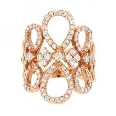 18K Rose Gold 'Halia' Ring #MLjewels #Diamonds #Luxury #Fashion #RoseGold #Weddings #Ring #DiamondRing