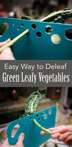 Easy way to get the stems off of green leafy veggies.
