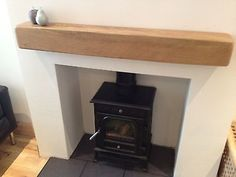 """6""""x6"""" Solid French Oak Beam Floating Mantle Piece Fire Place Surround Inglenook"""