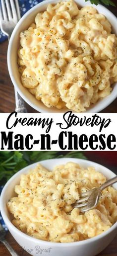 Stovetop macaroni and cheese is cheesy, creamy and comes together in 20 minutes. Skip the bow and make the real stuff next time! Creamy stovetop macaroni and cheese is a classic, and perfect any night of the week. Macaroni Cheese Recipes, Pasta Recipes, Dinner Recipes, Cooking Recipes, Healthy Recipes, Steak Recipes, Baked Macaroni, Seafood Recipes, Easy Weeknight Meals