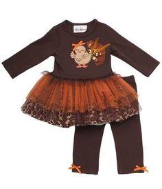 Infant Girl Thanksgiving Turkey Tutu Set
