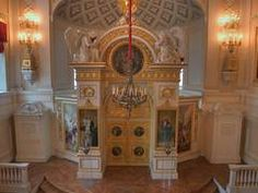 A church in Pavlovsky Palace. Pavlovsk, suburb of Saint Petersburg, Russia, December 24, 2005