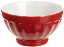 BIA Cordon Bleu 8-Ounce Fluted Bowl, 2 Tone, Set of 4, Red
