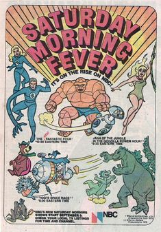 This ad comes from a 1978 Marvel Hanna-Barbera Flintstones comic book. Just look at the schedule NBC had for fall Saturday mornings. It doesn't get much better than a completely Hanna-Barbera Saturday. Saturday Morning Cartoons 80s, Old School Cartoons, Retro Cartoons, Classic Cartoons, Cool Cartoons, Funny Saturday, Funny Cartoon Pictures, Cartoon Photo, Cartoon Quotes