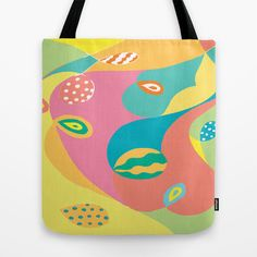Twists & Turns Tote Bag by Rosie Brown - $22.00#tote #bag #children #cotton #art #abstract #society6