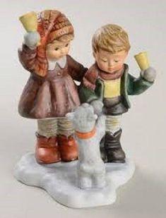 "Goebel Berta Hummel ""Jingling Bells"" BH 76 Christmas No Original Box Goebel Figurines, Glass Figurines, Collectible Figurines, Cow Decor, Christmas Figurines, Jingle Bells, Artsy, Seasons, Snow Globes"