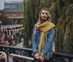 "Loving this photo of Johnny Golightly showing off our Reversible Pleated Cashmere Scarf Shawl after buying one from our shop in Camden Market. Johnny, we need to hire you as our model!!!  Here's Johnny to share the story: ""#ootd while shopping in Camden Market! I saw the scarf when passing Studio Hop and added it to the outfit there and then!""  Thanks to Mark Liddell for the photo!"