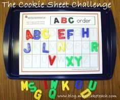 Great activity for a kindergarten literacy center. Ideas for differentiation. by sally