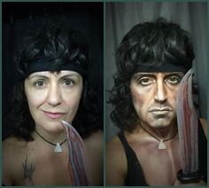 Woman Transforms Herself Into Different Male Characters With Makeup