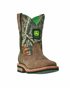 $96.00 Country Outfitter-Child's Classic Square Toe Pull-On Boot - Mossy Oak