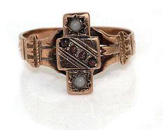 Garnet Engagement Ring Victorian Engagement Ring Purple Garnet Victorian Engagement Ring 10K Rose Gold