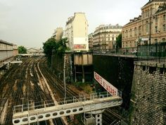 Train tracks in Paris, France