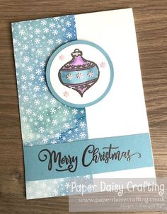 Paper Daisy Crafting: Tag Buffet Christmas Bauble card - video tutorial