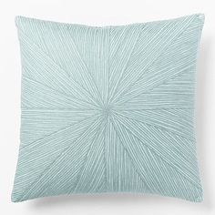 Embroidered Starburst Pillow Cover - Light Pool | I could either embroider this or make it out of striped fabric