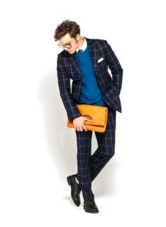 I'm very much hunting for a bold, yet demure windowpane like this for the fall/winter!! A suit with the vest will be the goal!! - Edifice F/W '13