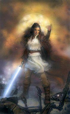 Jedi Leia /by ?? #StarWars #art