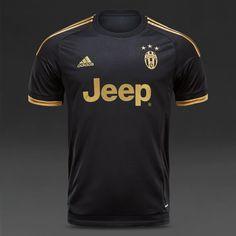 adidas Juventus 15/16 3rd Shirt - Black/Dark Football Gold