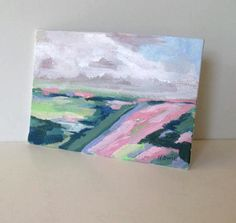 Acrylic Landscape on canvas 5 x 7 pastel by BrookeHowie on Etsy