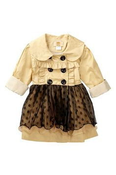 Mia Belle Baby Lace Trench Coat (Toddler, Little Girls, & Big Girls) by Non Specific on @HauteLook