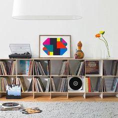 "Vinyl Storage Colors — Tom Adams Furniture from ""Vinyl Storage Design Ideas"" Pictures Vinyl Shelf, Vinyl Record Storage, Lp Storage, Storage Design, Record Shelf, Metal Clock, Metal Wall Art, Lp Regal, Adams Furniture"