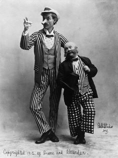 VAUDEVILLE ROUTINE: Drane and Alexander as Mutt and Jeff, 1912