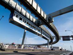 Chiba Urban Monorail (千葉都市モノレール), Chiba (千葉市), Chiba Prefecture (千葉県), Japan (日本) ... directly east/across the bay from Tokyo Disneyland | website: http://www.chiba-monorail.co.jp/ | video: http://www.youtube.com/watch?v=n5eIl9eKjfA | english info: http://en.wikipedia.org/wiki/Chiba_Urban_Monorail