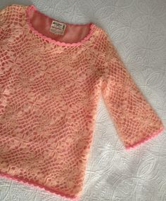Vintage 1960s Phil Rose of California Pink Crocheted Sweater by BarbeeVintage, $37.00