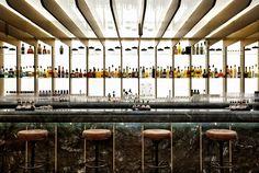 Lighting/back of bar modern in an otherwise traditional room Dandelyan, Mondiran Hotel London