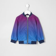adeac79b00c3 River Island Mini boys purple color fade bomber jacket Stylish Baby Boy