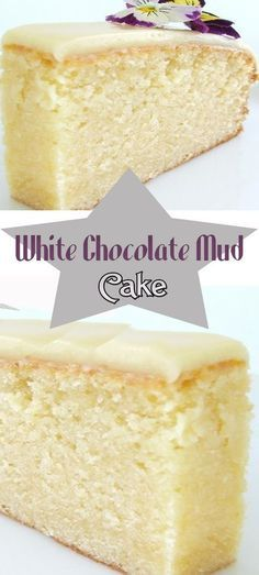 White Chocolate Mud Cake - Cake And Food Recipe - recipes for the sweet tooth - White Chocolate Cupcake Recipes, Baking Recipes, Cupcake Cakes, Dessert Recipes, Cake Icing, Frosting Recipes, Coconut Dessert, Bon Dessert, 13 Desserts
