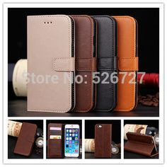 Luxury Retro PU Leather Wallet Flip Case For Apple iphone 6 6s Phone Bag Cover Cases Stand for iphone 6 6s 6 Plus 6s Plus