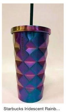 NEW Starbucks Orange Translucent Metallic Spiral Cold Tumbler 16 oz
